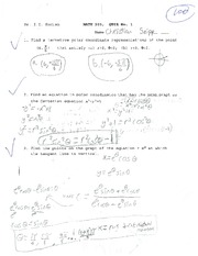 MATH 203 KUDISH QUIZ 1 SUMMER 2013