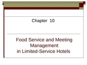 Food Service and Meeting Management