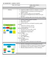 Matter and Changes Cornell Notes