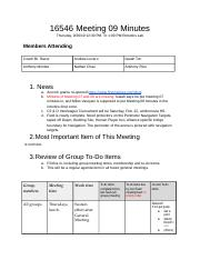 16546 Meeting 09 Minutes