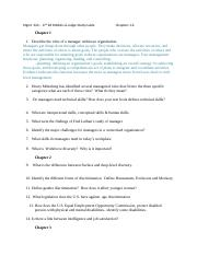 MGMT340_Exam 1 Study Guide