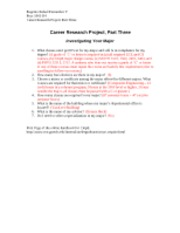 Career Research Project III