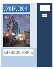 AS1 - BUILDING REPORT