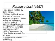 Paradise Lost (1667)