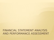 Financial Statements Analysis and Performance Assessment