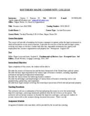 Bus Law Syllabus Fall 2009 TTh930