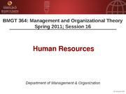 BMGT 364 Session 16 Human Resources Handouts