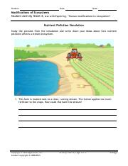 Nutrient Pollution Simulation