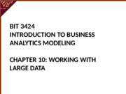Lecture 10-Working with Large Data