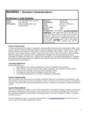 BUS9551 Business Communication I Syllabus Spring 2012 (3)