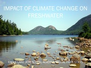 19. Climate change and fresh water_040314