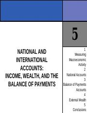 CHAPTER 5 NATIONAL AND INTERNATIONAL ACCOUNTS (INCOME, WEALTH  AND THE BALANCE OF PAYMENTS).ppt