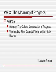 wk 4a Meaning of Progress LOR Adaptation