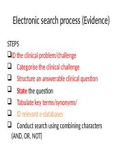 EBP 4 Electronic search process (Evidence).pptx