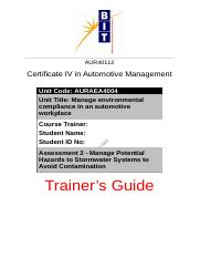 Assessment 2 - Trainer's Guide.docx