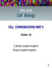 Lecture 10 online (Ch.16) Cell Communication pt.2