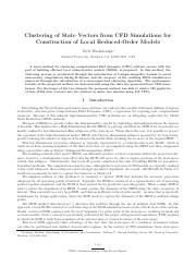 Washabaugh-ClusteringOfStateVectorsFromComputationalFluidDynamicsSimulationsForConstructionOfLocalRe