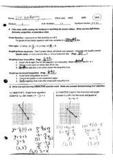 GraphingLinear&CompoundInequalities