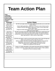 Team A Action Plan