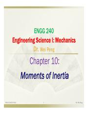 Chapter 10 moments of inertia