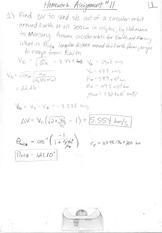 ASE 366L Homework 11 Solutions