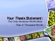 Intro to Thesis Statement
