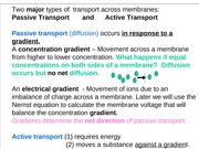 Membrane Transport & Potentials
