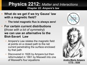 Week 13 Ampere's Law and Curly Electric Fields