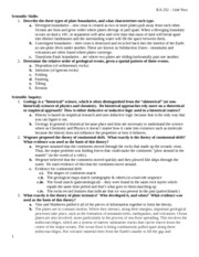 Unit Two Study Guide