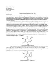 Mix - Extraction of Caffeine from Tea - Organic Chemistry I