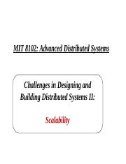 MIT 8102 Challenges in Distributed Computing I I - Scale.ppt