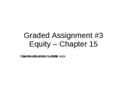 Solution Graded Assignment _3 - Chap 15