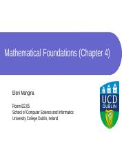 Chapter 4 - Mathematical Foundations