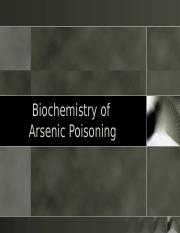 Biochemistry of Arsenic Poisoning (2).pptx