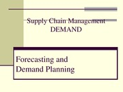 10 - Demand Planning and Forecasting Spring 2015 eCollege