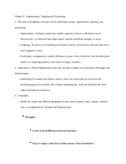 Principles of Marketing Chapter 6 Study Guide
