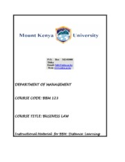 BBM 123 BUSINESS LAW