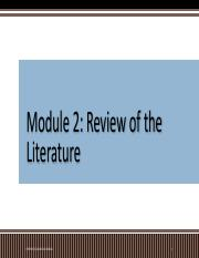 MODULE 2 REVIEW OF THE LITERATURE.pdf