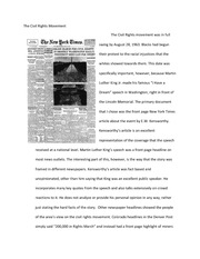 The Civil Rights Movement Essay  The Civil Rights Movement The  This Is The End Of The Preview Sign Up To Access The Rest Of The Document  Unformatted Text Preview The Civil Rights Movement The Civil