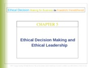 Ethical Decision Making and Ethical Leadership