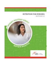 Fund_ATI Review Module_Nutrition of Nursing 5.0