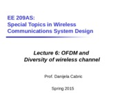 Lec6_OFDM and Diversity of wireless channel