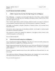 LOCAL SAFETY INCIDENTS.doc