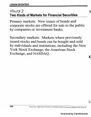 Lesson 17 Visual 2 - Two Kinds of Markets for Financial Securities