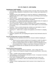 ACC 521 - Chapter 10 Notes