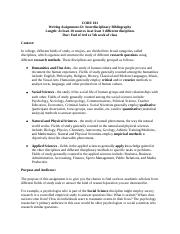 Interdisciplinary Bibliography Full Length Instructions and Grading Rubric.docx