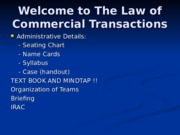 Commercial Transactions Power Point Slides