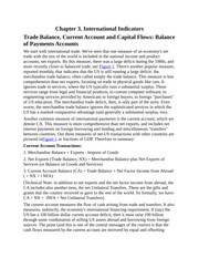 International Indicators, Trade Balance, Current Account and Capital Flows, Sustainability of Curren