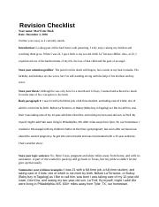 Revision Checklis1