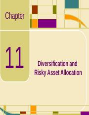Chap11_Diversification and Risky Asset Allocation.ppt